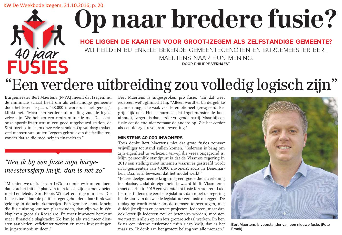 KW De Weekbode Izegem, 21.10.2016, p. 20
