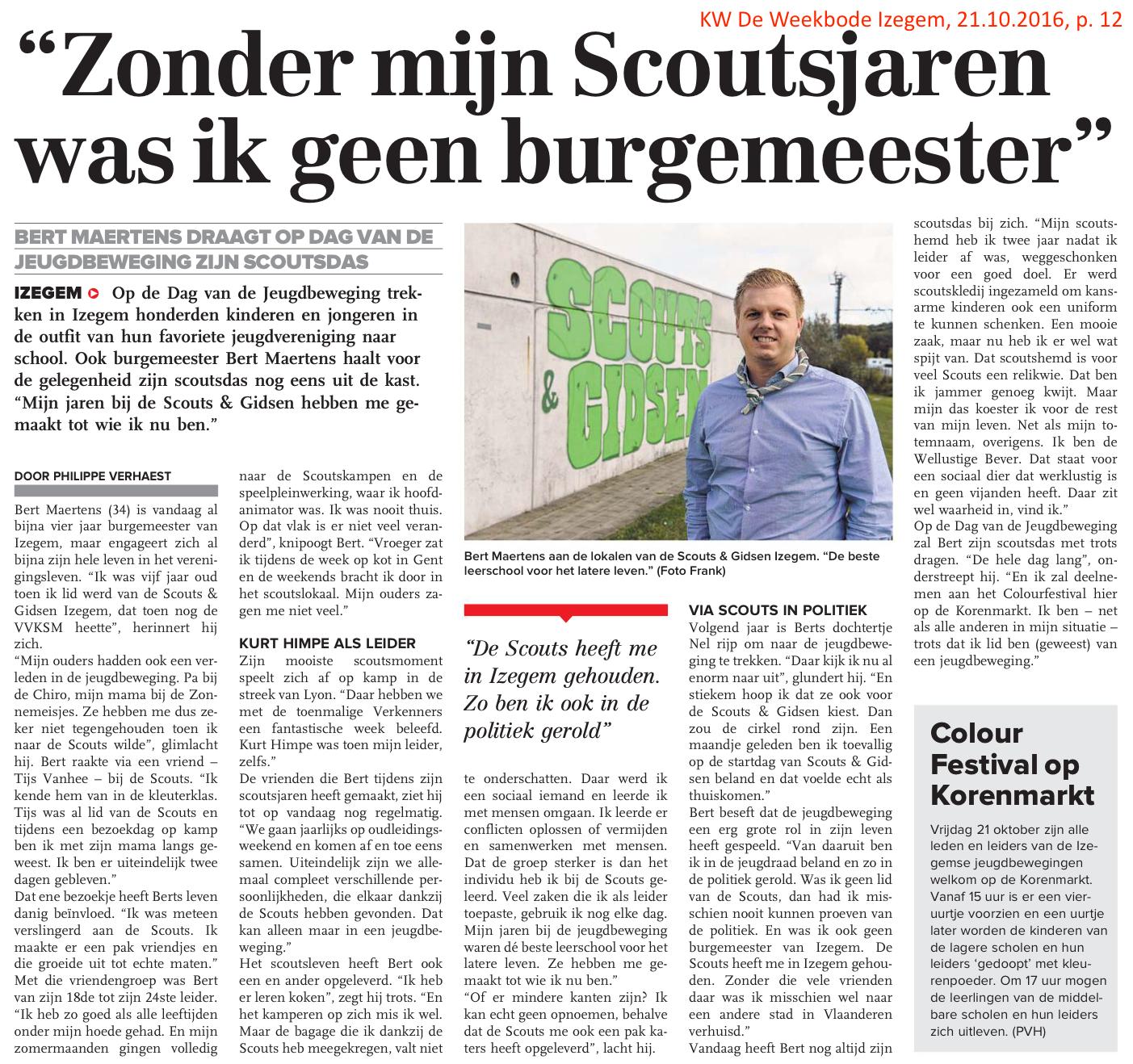 KW De Weekbode Izegem, 21.10.2016, p. 12