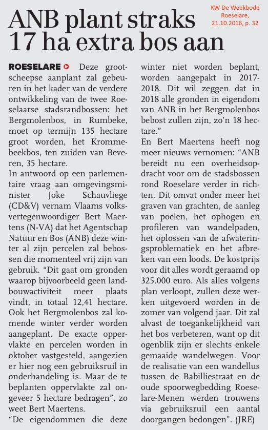 KW De Weekbode Roeselare, 21.10.2016, p. 32