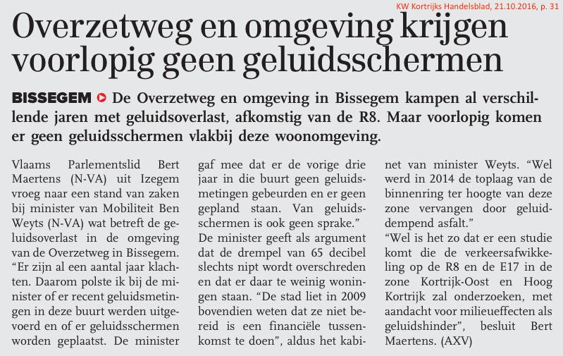 KW Kortrijks Handelsblad, 21.10.2016, p. 31