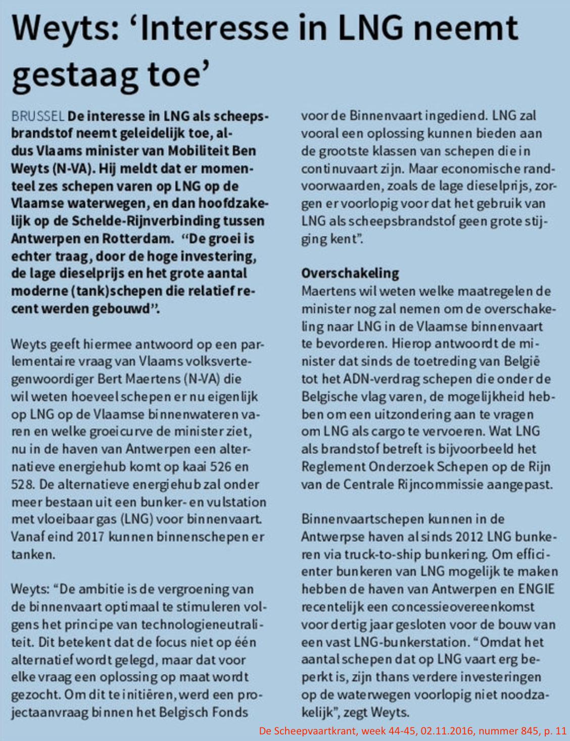 De Scheepvaartkrant, week 44-45, 02.11.2016, nummer 845, p. 11