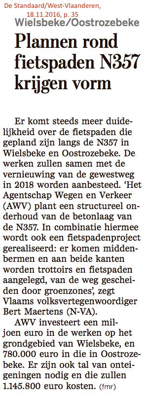 De Standaard/West-Vlaanderen, 18.11.2016, p. 35