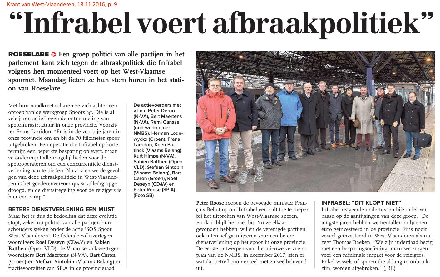 Krant van West-Vlaanderen, 18.11.2016, p. 9
