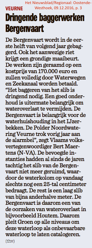 Het Nieuwsblad/Regionaal: Oostende-Westhoek, 09.12.2016, p. 3