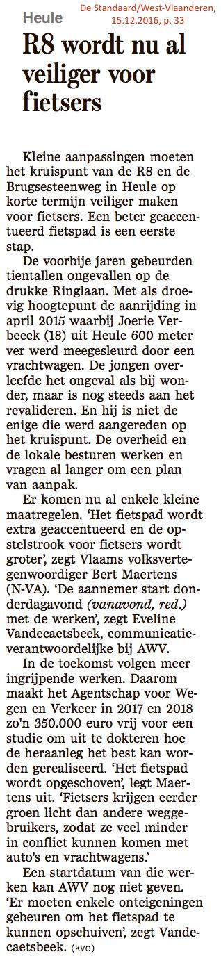 De Standaard/West-Vlaanderen, 15.12.2016, p. 33