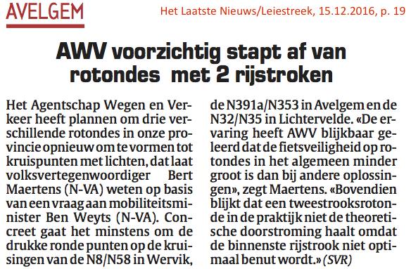 Het Laatste Nieuws/Leiestreek, 15.12.2016, p. 19