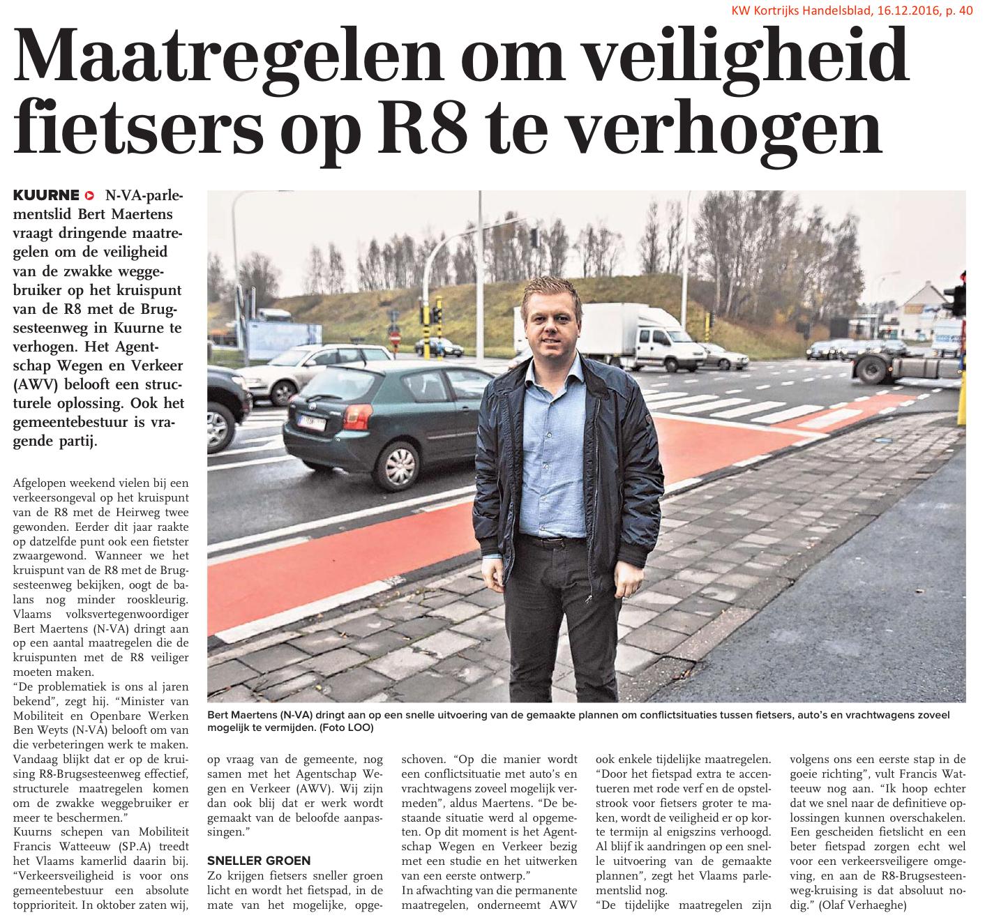 KW Kortrijks Handelsblad, 16.12.2016, p. 40