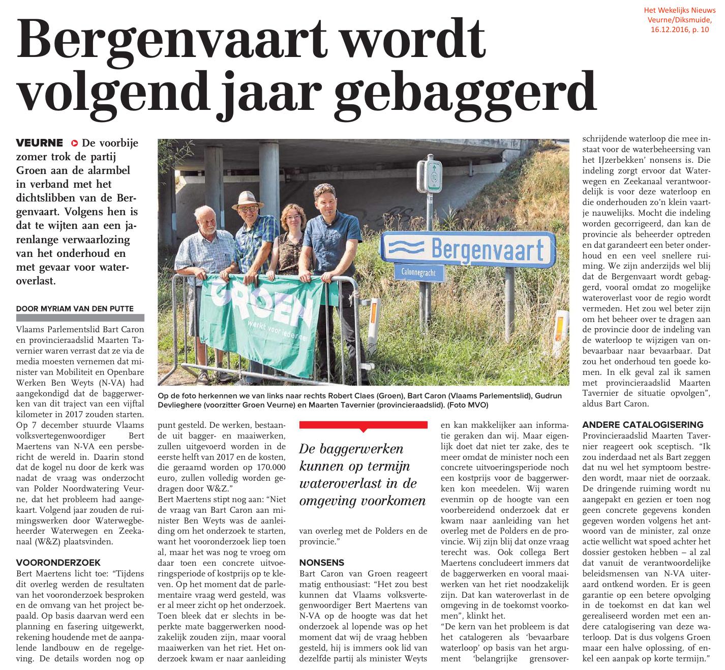 Het Wekelijks Nieuws Veurne/Diksmuide, 16.12.2016, p. 10