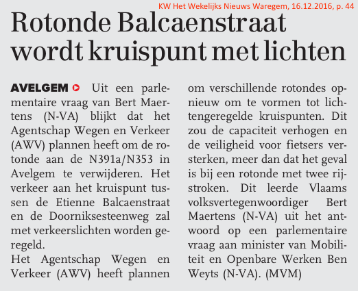 KW Het Wekelijks Nieuws Waregem, 16.12.2016, p. 44
