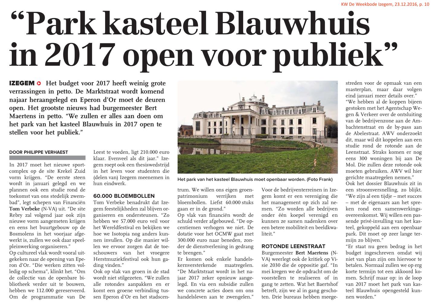 KW De Weekbode Izegem, 23.12.2016, p. 10