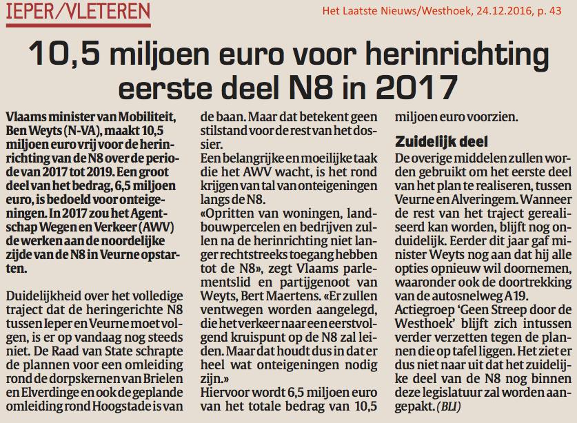 Het Laatste Nieuws/Westhoek, 24.12.2016, p. 43