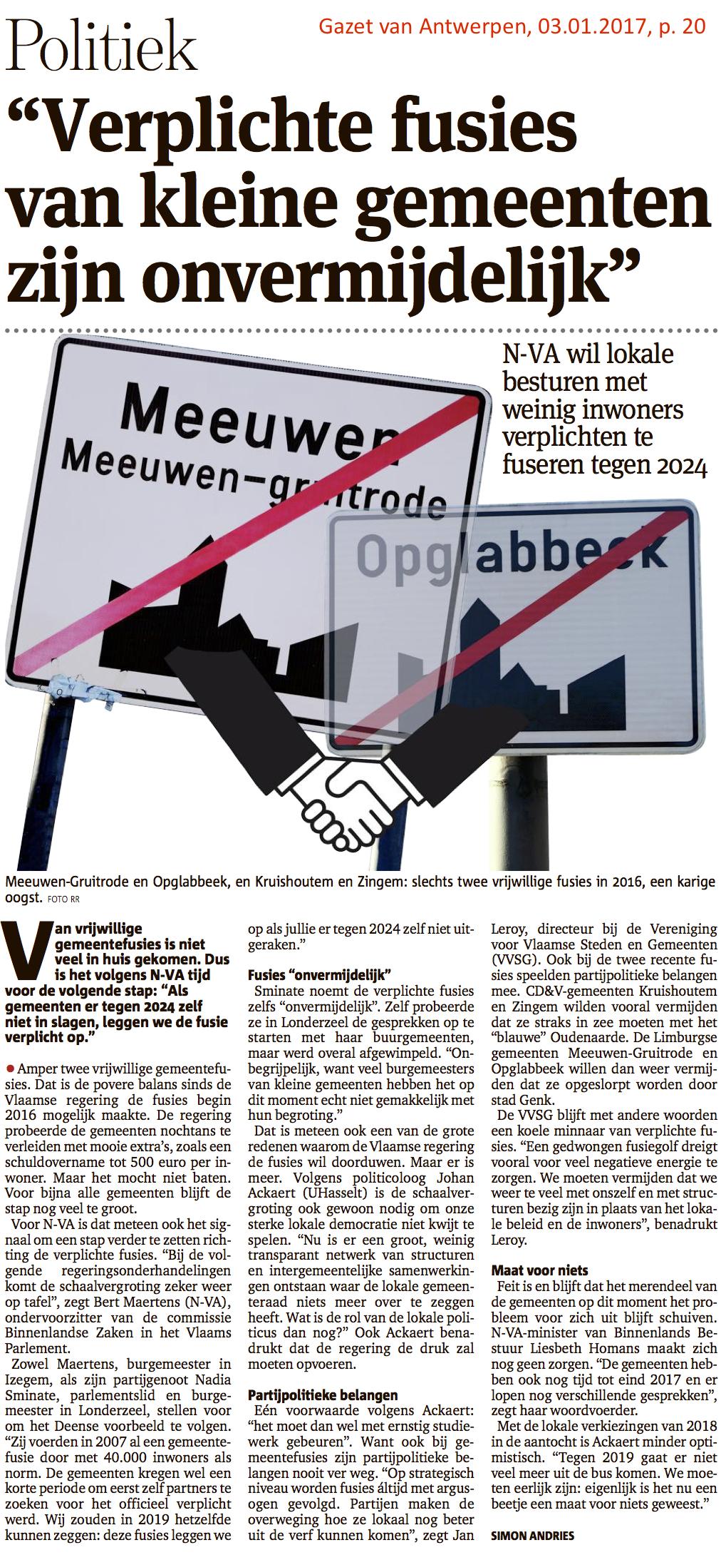 Gazet van Antwerpen, 03.01.2017, p. 20