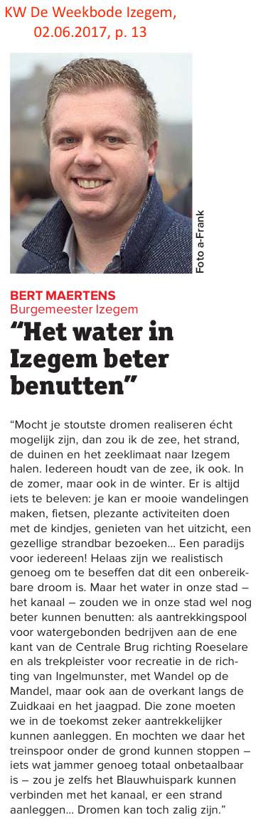 KW De Weekbode Izegem, 02.06.2017, p. 13