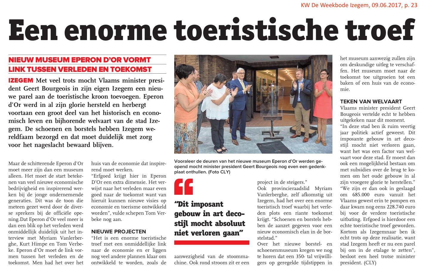 KW De Weekbode Izegem, 09.06.2017, p. 23