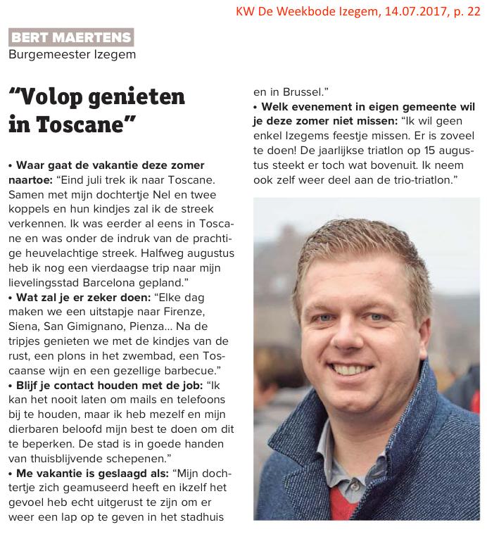 KW De Weekbode Izegem, 14.07.2017, p. 22