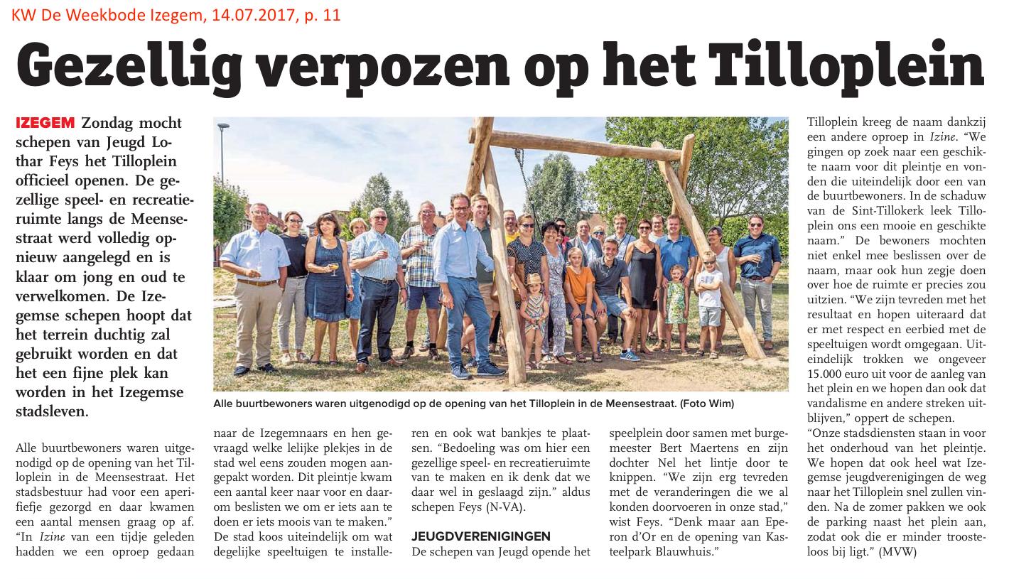 KW De Weekbode Izegem, 14.07.2017, p. 11