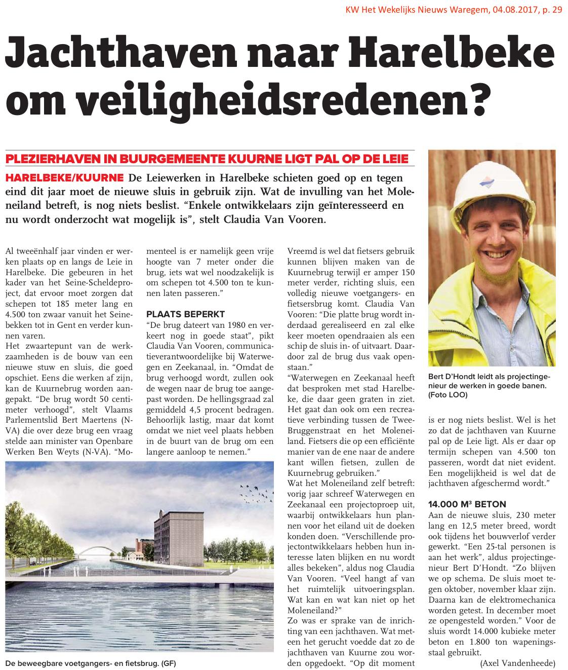 KW Het Wekelijks Nieuws Waregem, 04.08.2017, p. 29