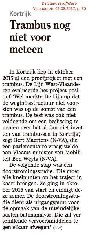 De Standaard/West-Vlaanderen, 05.08.2017, p. 30