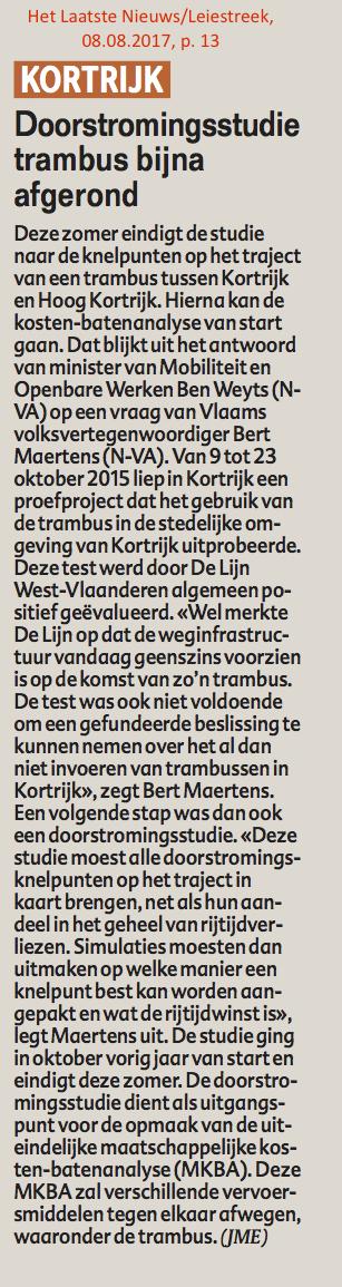 Het Laatste Nieuws/Leiestreek, 08.08.2017, p. 13