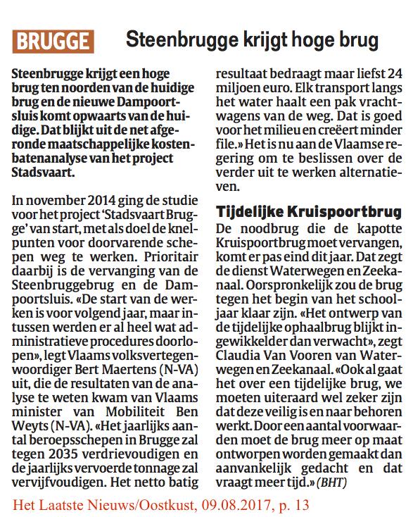 Het Laatste Nieuws/Oostkust, 09.08.2017, p. 13