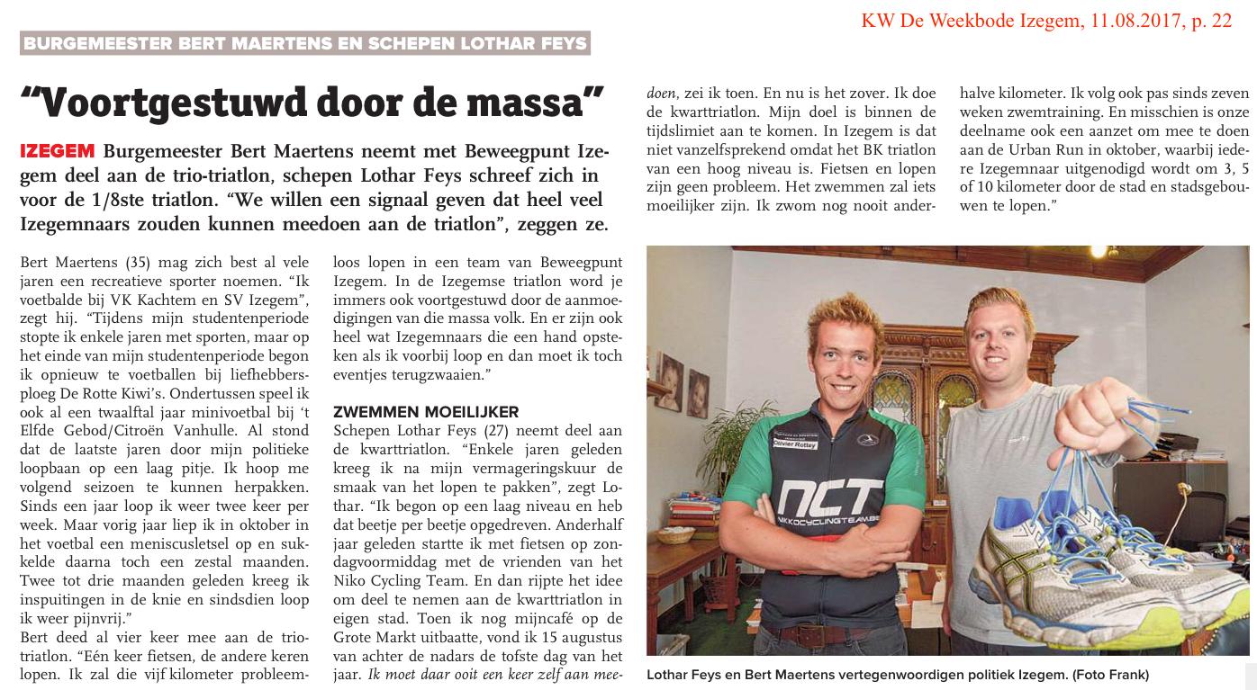 KW De Weekbode Izegem, 11.08.2017, p. 22