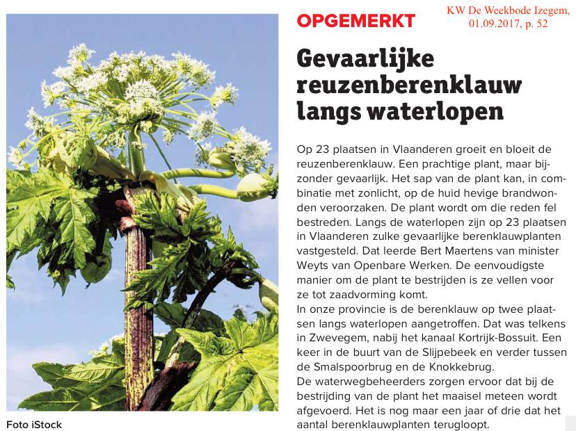 KW De Weekbode Izegem, 01.09.2017, p. 52