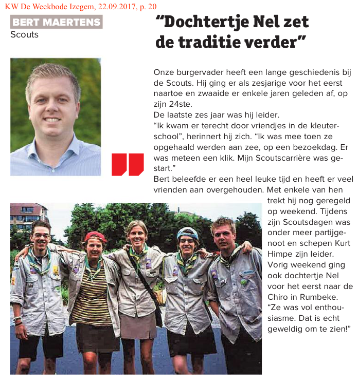 KW De Weekbode Izegem, 22.09.2017, p. 20
