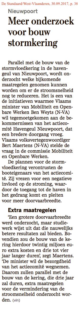De Standaard/West-Vlaanderen, 30.09.2017, p. 38