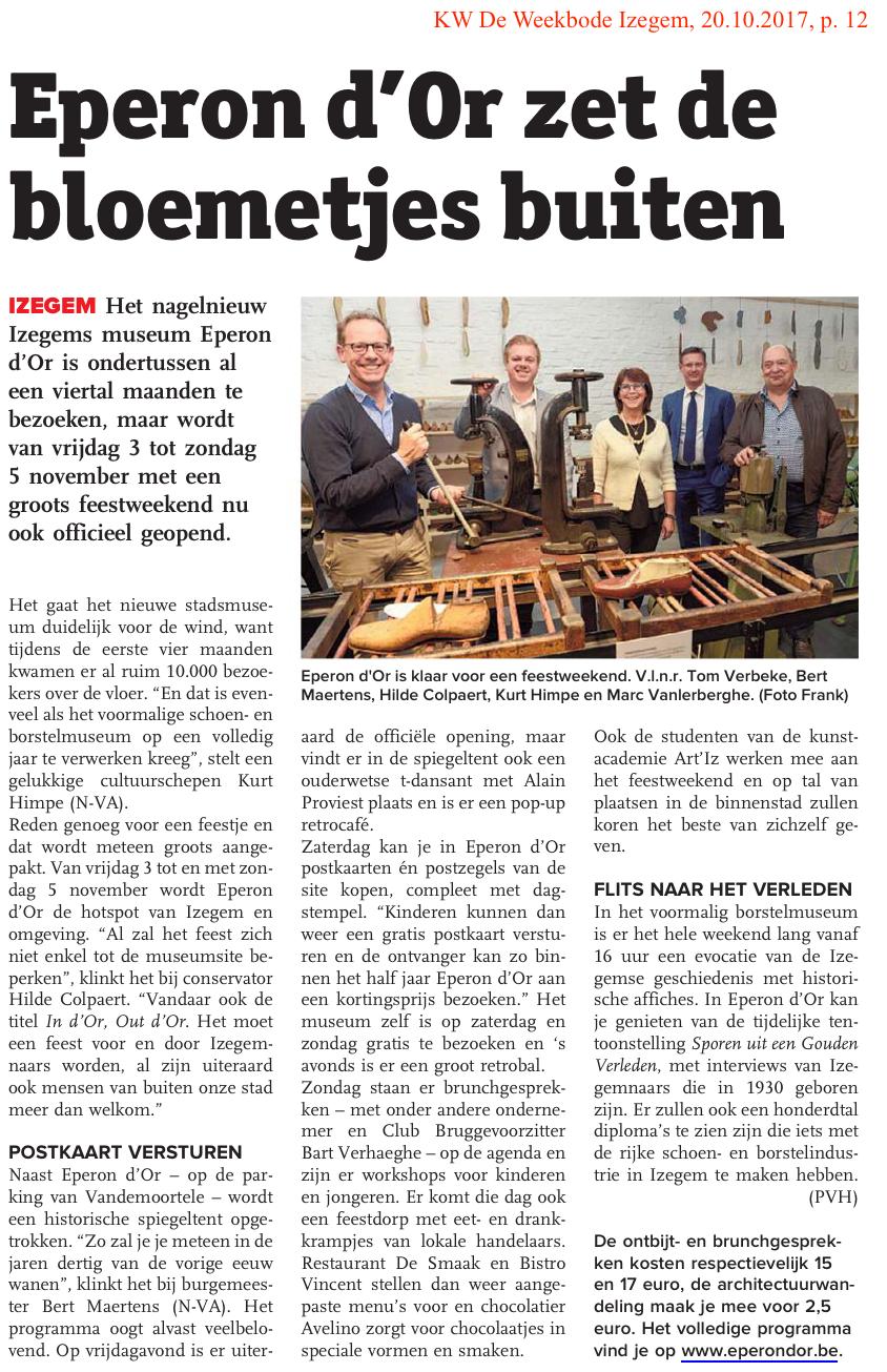 KW De Weekbode Izegem, 20.10.2017, p. 12