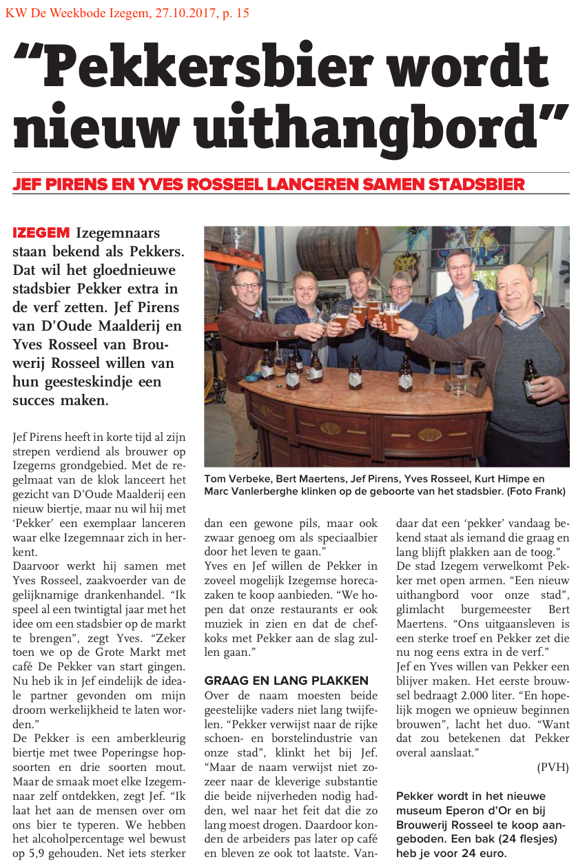 KW De Weekbode Izegem, 27.10.2017, p. 15