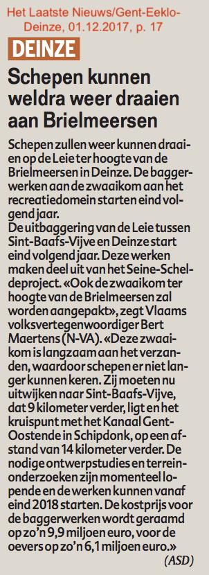 Het Laatste Nieuws/Gent-Eeklo-Deinze, 01.12.2017, p. 17