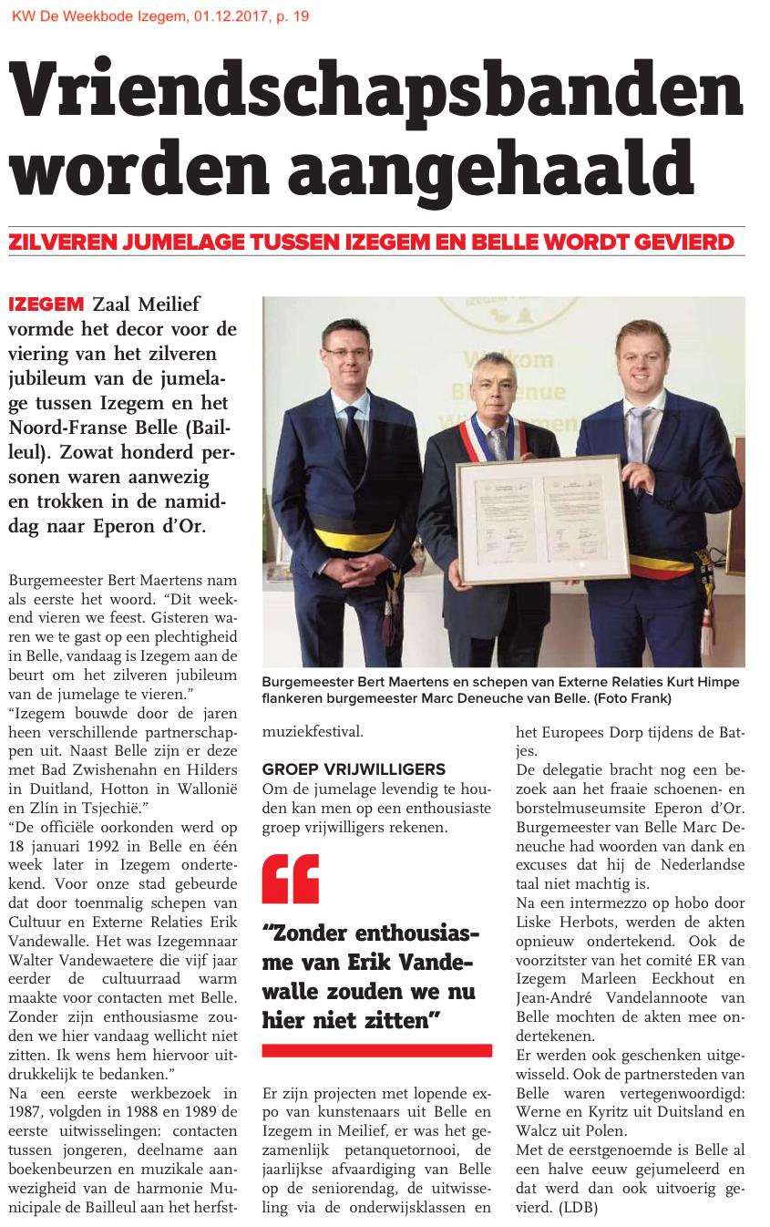 KW De Weekbode Izegem, 01.12.2017, p. 19