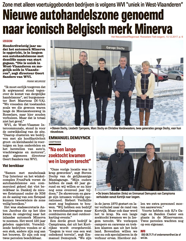 Het Nieuwsblad/Regionaal: Roeselare-Tielt-Izegem, 13.12.2017, p. 6