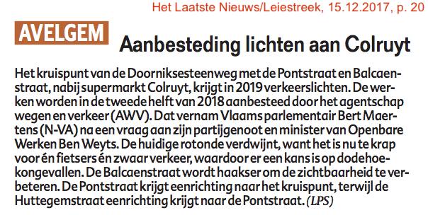 Het Laatste Nieuws/Leiestreek, 15.12.2017, p. 20
