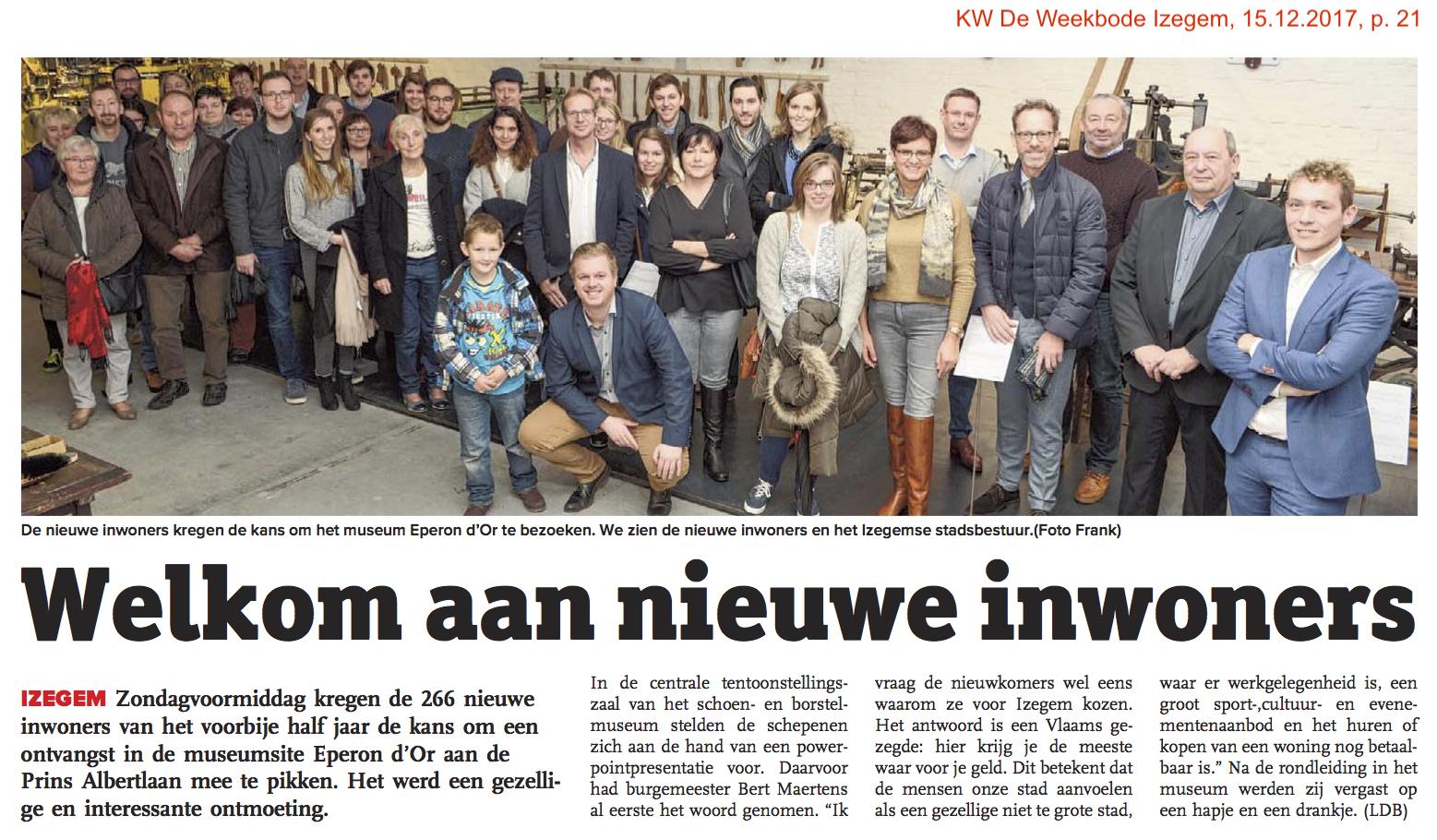 KW De Weekbode Izegem, 15.12.2017, p. 21