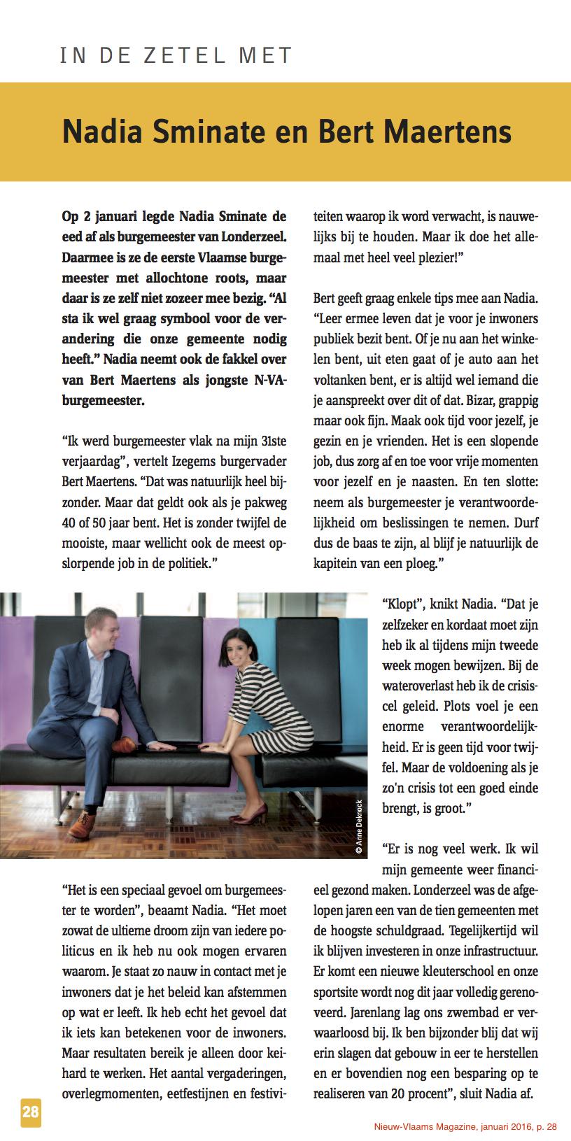 Nieuw-Vlaams Magazine, januari 2016