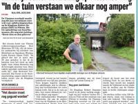 Krantenartikel Het Nieuwsblad, 15/07/2020